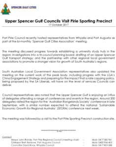 Media Release 17 Oct 17 SGC Meeting