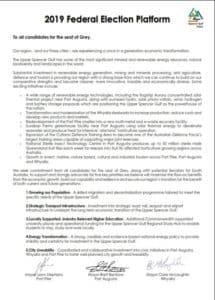 2019 Election Platform Frontpage